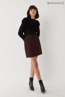 Warehouse Purple Tweed Skirt