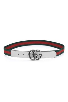 Green/Red Web Belt With White Strap