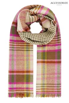 Accessorize Multi Ellie Reversible Check Blanket Scarf