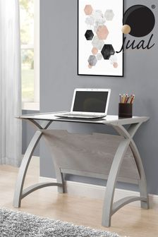 Helsinki 900 Grey Laptop Table By Jual
