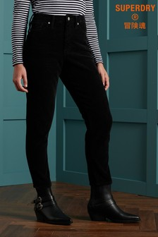 Superdry High Slim Taper Cord Trousers