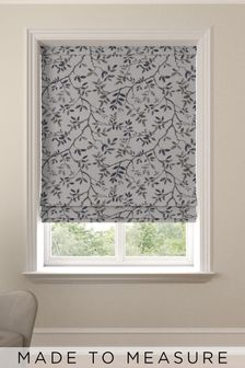 Phoebe Denim Blue Made To Measure Roman Blind