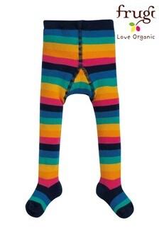 Frugi Warm Loop Back Rainbow Stripe Tights