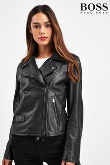 BOSS Black Jachills Leather Jacket