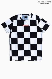 Society Sport Kids Mono Checkerboard T-Shirt