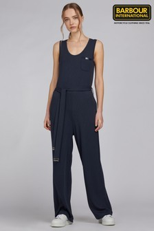 Barbour® International Navy Jersey Ribbed Sugo Relaxed Fit Jumpsuit