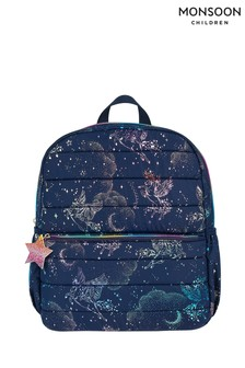 Monsoon Luna Unicorn Quilted Backpack
