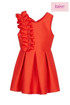 Baker by Ted Baker Red Bow Scuba Coral Dress