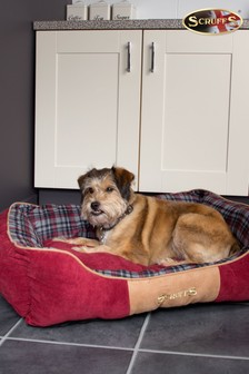 Washable Highland Tartan Large Breed Dog Bed by Scruffs®