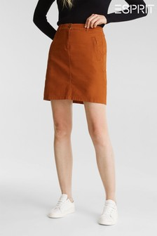 Esprit Brown Woven Mini Skirt
