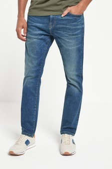 Vintage Wash Slim Fit Jeans