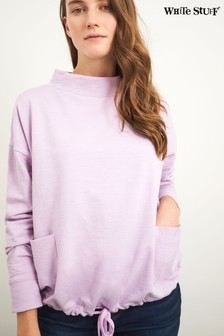 White Stuff Purple Tie Hem Sweater