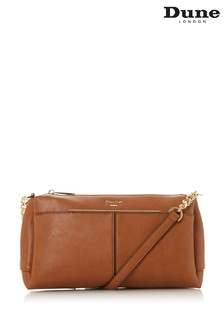 Dune London Dornea Tan Synthetic Logo Detail Cross Body Bag