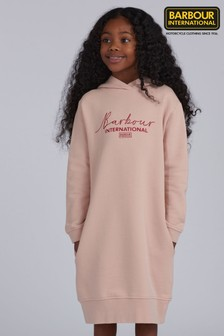 Barbour® International Girls Grid Hooded Dress