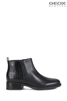 Geox Womens Resia Black Boots