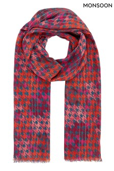 Monsoon Multi Halo Hero Print Lightweight Scarf