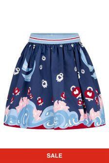 Simonetta Girls Multi Cotton Skirt