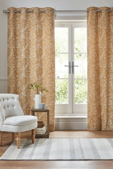 Woodland Animal Chenille Eyelet Curtains