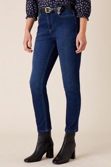 Monsoon Sophie Straight Leg Jeans With Organic Cotton