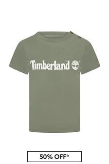 Timberland Baby Green Cotton T-Shirt