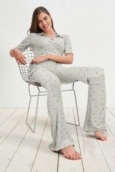 Sustainable EcoVero™ Kickflare Rib Trousers