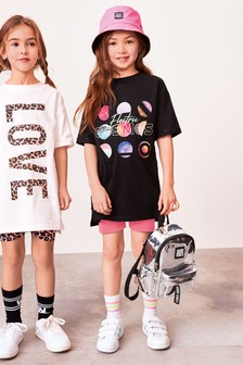 Oversized T-Shirt And Cycling Shorts Set (3-16yrs)