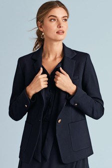 Jersey Single Breasted Jacket