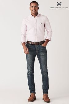 Crew Clothing Pink Crew Slim Oxford Shirt