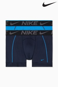 Nike Blue Breathe Micro Trunks 2 Pack
