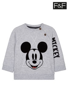 F&F Grey Marl Mickey Mouse™  Sweater
