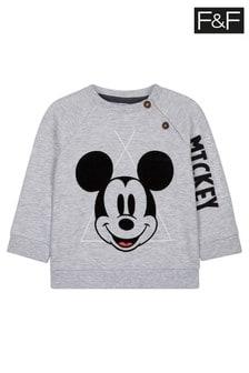 Szary sweter z tkaniny pętelkowej Mickey Mouse™ F&F