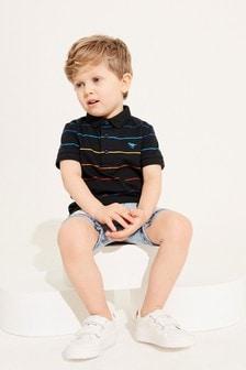 Short Sleeve Stripe Jersey Polo (3mths-7yrs)