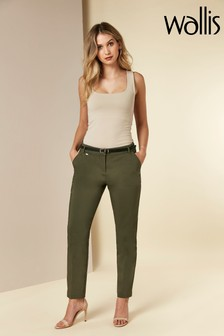Wallis Green Double Faced Cigarette Trousers