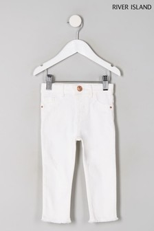 River Island White Molly Jeans