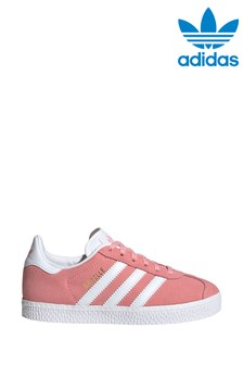 adidas Originals Pink/White Gazelle Junior Trainers