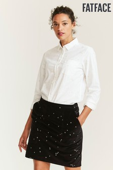 FatFace Natural Olivia Embroidered Star Shirt