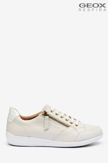 Geox Womens Myria Off White Sneakers