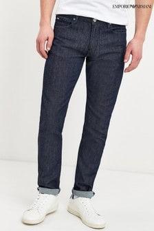 Modré džínsy úzkeho strihu Emporio Armani J06