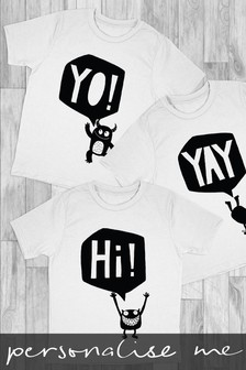 Personalised Cheeky Monsters Printed T-Shirt