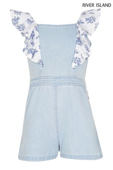 River Island Denim Little Playsuit