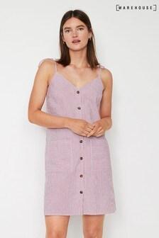 Warehouse Red Stripe Mini Cami Dress