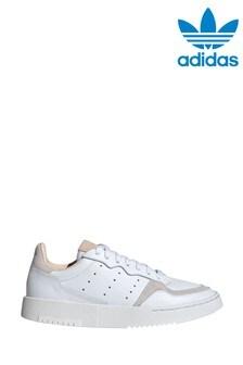 adidas Originals White Supercourt Youth Trainers