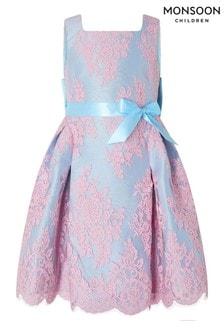 Monsoon Valeria Blue Lace Dress