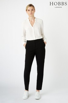 Hobbs Black Tapered Mina Trousers