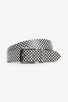 Checkerboard Crackle Belt