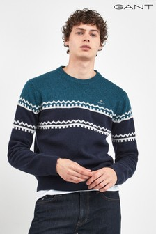 GANT Blue Holiday Stripe Crew