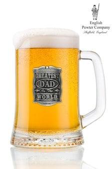 Greatest Dad In The World Glass Tankard 500ml