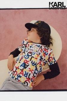Karl Lagerfeld Kids Multi Text T-Shirt