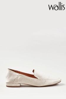 Wallis Blake Oyster Snake Satin Loafers