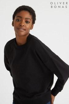 Oliver Bonas Black Mellow Sweatshirt